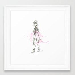 Damsel Pencil Sketch 1 Framed Art Print