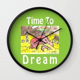 Sleeping Dragon (Watercolor and Pen) Wall Clock