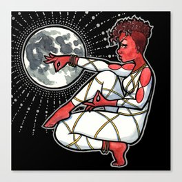 Blood Moon Goddess Canvas Print