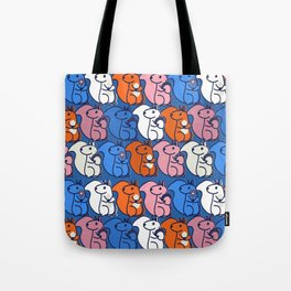 retro squirrels- pattern Tote Bag