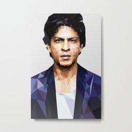 Shahrukh khan Poster low poly Metal Print