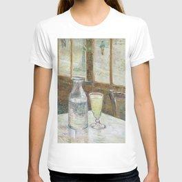 Café table with absinth by Van Gogh T-shirt