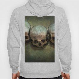 Three human skulls Hoody