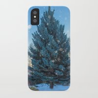 christmas tree iPhone & iPod Cases featuring Christmas tree  by Svetlana Korneliuk