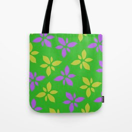 Illustration of flowers(green background) Tote Bag