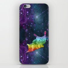 Rainbow Kitty Floating in Space iPhone & iPod Skin