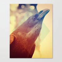 crow Canvas Prints featuring Crow by Victor Vercesi