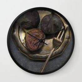 Still life with rotten figs Wall Clock