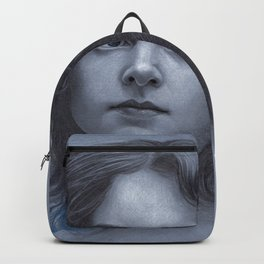Behind greyness - pencil drawing on paperboard Backpack