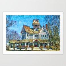Grey Gables Mansion Art Print