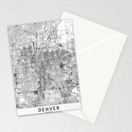 Denver White Map Stationery Cards