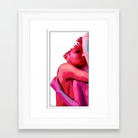 women Framed Art Prints featuring women by veronica ∨∧