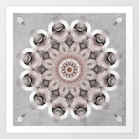 Mandala Shabby Art Print