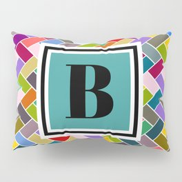B Monogram Pillow Sham
