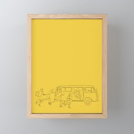 Running on sunshine Framed Mini Art Print