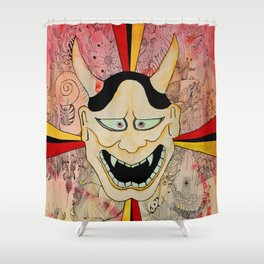 The Mask Shower Curtain