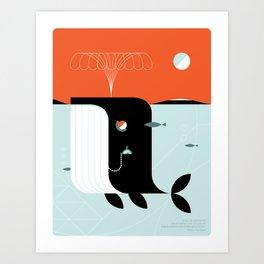 Time the dark whale Art Print