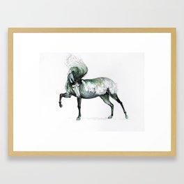 Cresting Wave Horse Framed Art Print