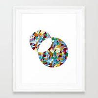 mozart Framed Art Prints featuring Mozart abstraction by Laura Roode