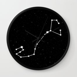 Scorpio Astrology Star Sign Night Sky Wall Clock