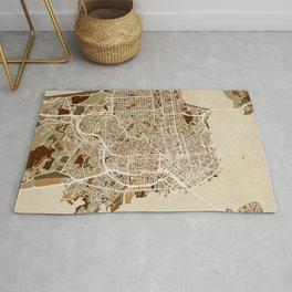 San Francisco City Street Map Rug