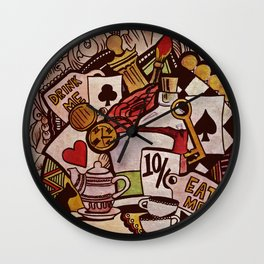The hurrier I go, the behinder I get Wall Clock