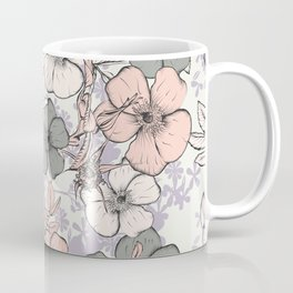 Flower vintage design with wild roses in english style Coffee Mug