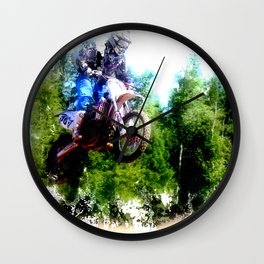 """Dare to Fly"" Motocross Racer Wall Clock"
