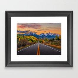 The Road To Telluride Framed Art Print