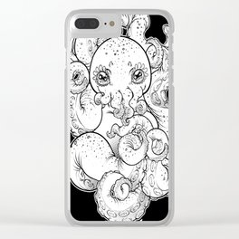 Cthulhu (B&W Version I) Clear iPhone Case