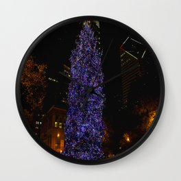 The Tree and the Tower (Chicago Christmas/Holiday Collection) Wall Clock