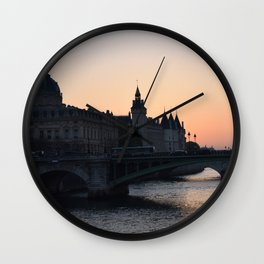 la senna parigi Wall Clock
