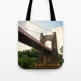 Wheeling Suspension Bridge  Tote Bag