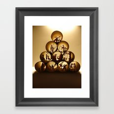 Pyramid of rolls 1 (Pyramide des rouleaux 1) Framed Art Print