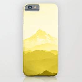 Illuminating Yellow 2021 Color Of The Year Pantone Mountains Adventure iPhone Case