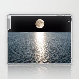 Ocean Moonlight   Moon Photography   Stars and Ocean   Night sky Laptop & iPad Skin
