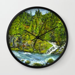 South Umpqua River, Oregon Wall Clock