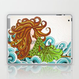 Mermaid Waves Laptop & iPad Skin