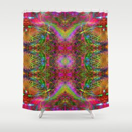 Techno Electric V Shower Curtain
