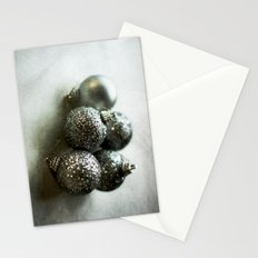Silver Baubles Stationery Cards