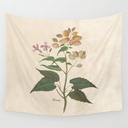 Honesty - botanical Wall Tapestry