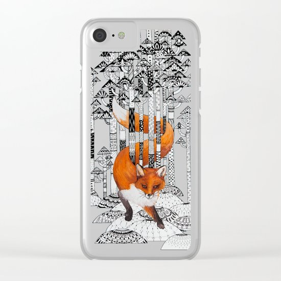 Fox Forest Clear iPhone Case