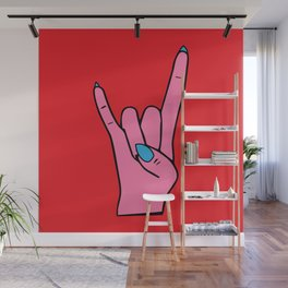 The Horns - Rock On Wall Mural