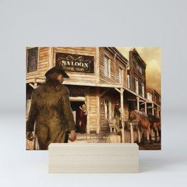 SALOON Wild West Cowboy Mini Art Print