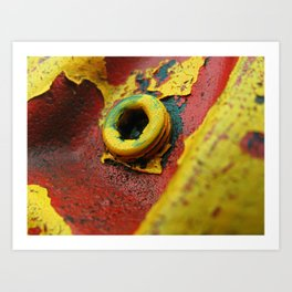 Rusty Fire Hydrant Bolt Art Print