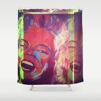 monroe Shower Curtains featuring Monroe by AB Art