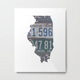 Vintage Illinois Metal Print