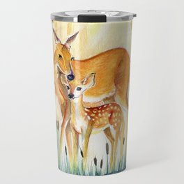 Mom and Little Deer Travel Mug