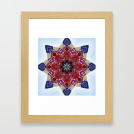 Red and blue classic trucks kaleidoscope Framed Art Print