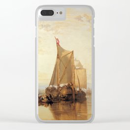 "J. M. W. Turner ""The Dort Packet-Boat from Rotterdam Becalmed"" Clear iPhone Case"